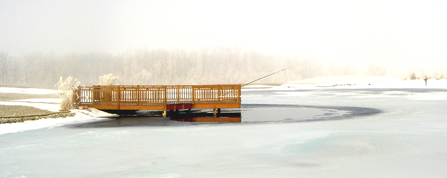dock de-icing with aeration