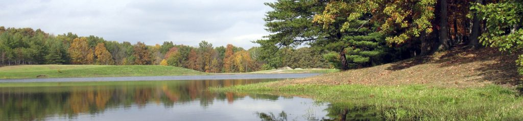 Seasonal changes in lake in the fall