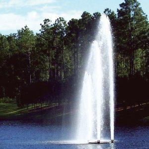 TriPod lake fountain