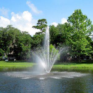 TwoTier lake fountain