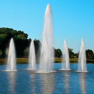 Custom lake fountain