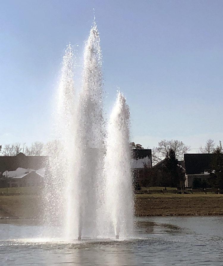 20hp TriGeyser Fountain at Heartland Church